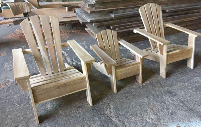 Sillas en madera de teca para exteriores